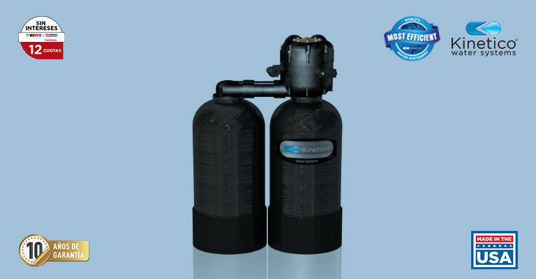 El diseño de tanque dual proporciona agua blanda 24/7