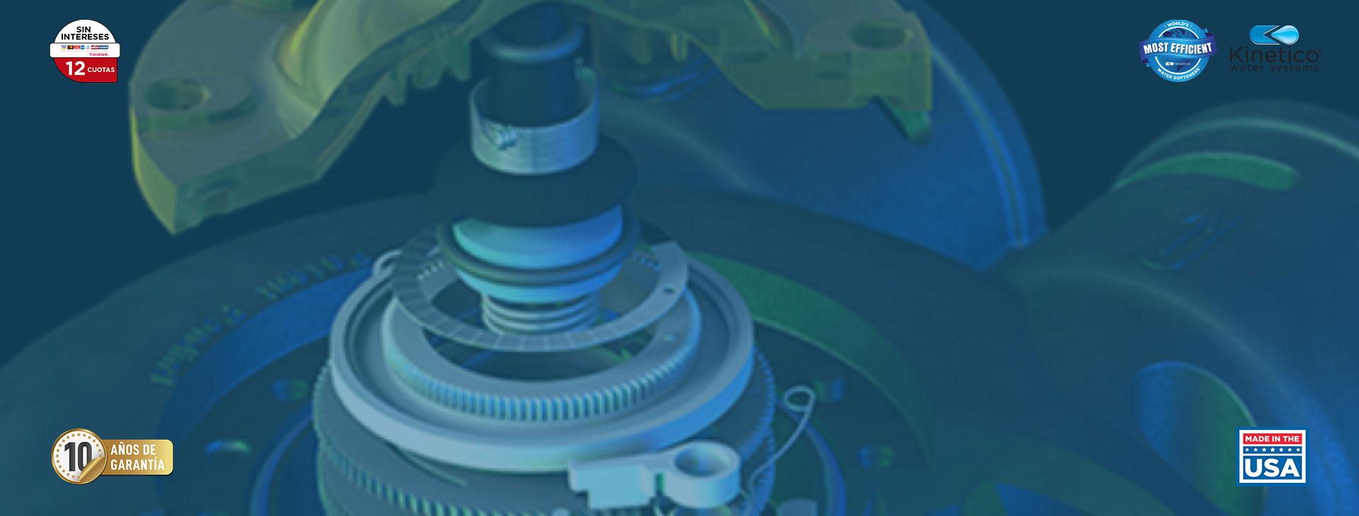 Kinetico smart disk™ mide el uso de agua con precisión de relojería