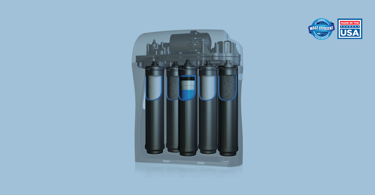 Sistema de osmosis inversa con 5 filtros y adición de minerales